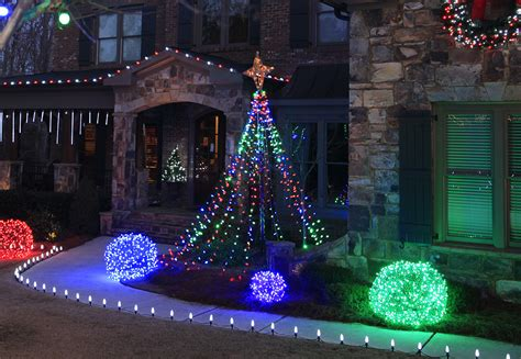 how to decorate tree lights outdoor yard decorating ideas