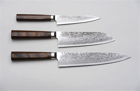kitchen knives japanese r4 damascus 3 set paring knife santoku knife and chef s knife 171 unique japan