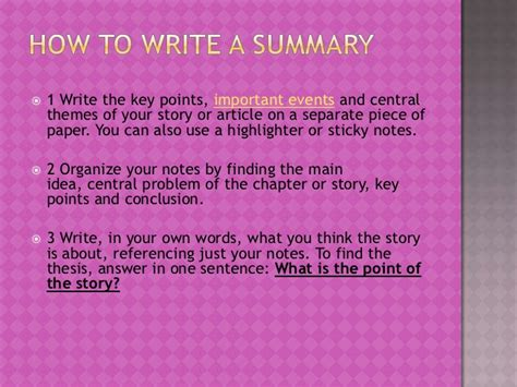 how to write a story book with pictures how to write a summary