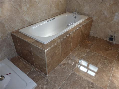 Bathroom Tiling Ideas For Small Bathrooms boxing in amp tiling around a bath