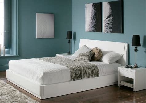 beds white aden high gloss ottoman storage bed white