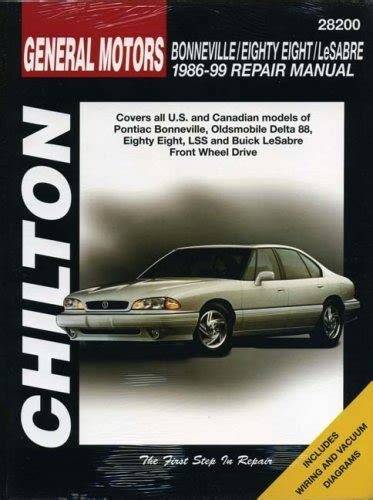 car repair manual download 1986 pontiac bonneville parking system gm bonneville eighty eight lesabre 1986 1999 covers all u s and canadian models of pontiac