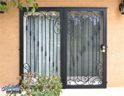 patio door wrought iron patio doors