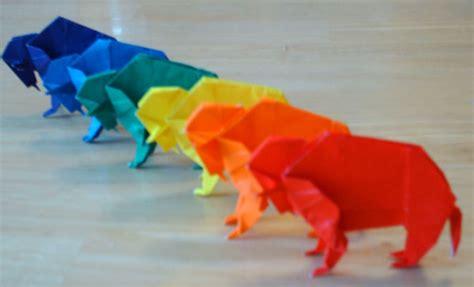 origami bison origami buffalo
