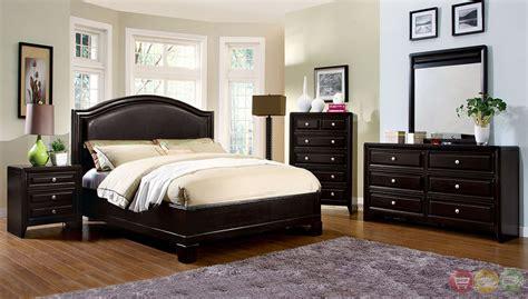 contemporary bed set winsor contemporary espresso platform bedroom set with
