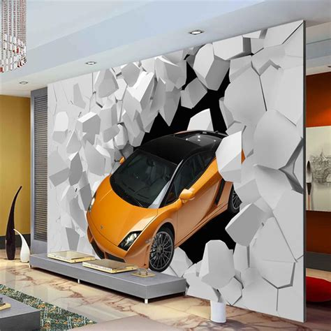 Car Wallpapers For Room by 3d Sports Car Photo Wallpaper Wall Mural Unique