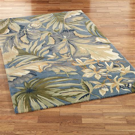 tropical area rugs paradise blue tropical area rugs