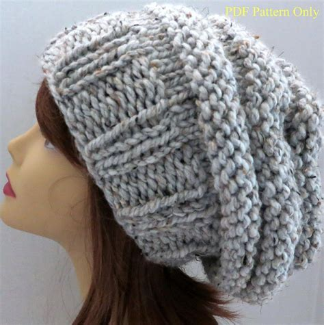 pattern for knitted slouch hat chunky mini beehive slouch hat pattern slouch hats