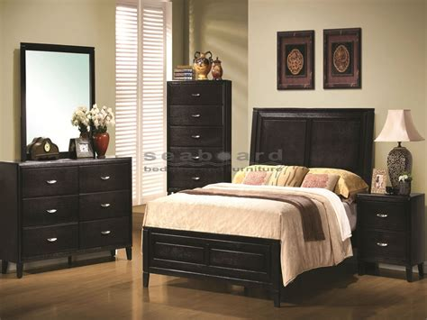 walnut and black bedroom furniture nacey black walnut 6 bedroom set