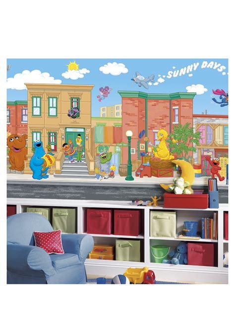 Sesame Street Wall Mural sesame street pre pasted wall mural