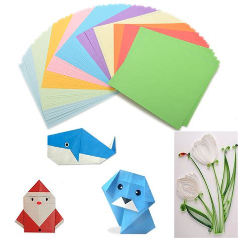 folded square origami paper 100 pcs origami square paper sided coloured sheets