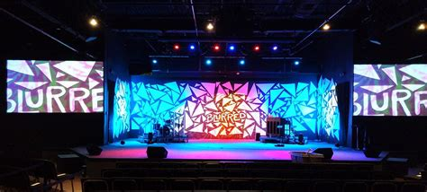 stage design for buried church stage design ideas