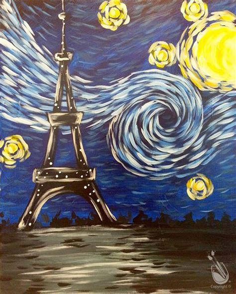 paint with a twist monroeville starry eiffel tower thursday january 12 2017