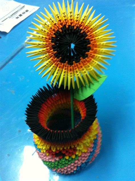 3d origami sunflower 216 best images about origami 3d origami on