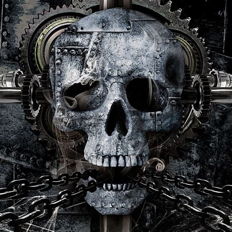 metal skull 12 best images about skulls biomechanic on