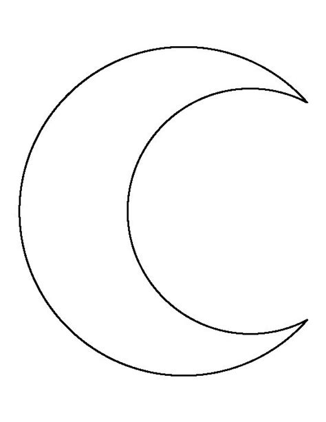 crescent shape free coloring pages