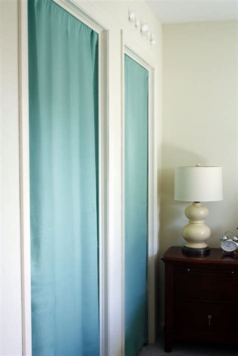 closet door curtains this is how it goes using curtains for closet doors