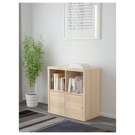 shelving unit with doors kallax shelving unit with doors white stained oak effect