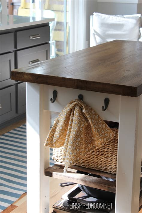 diy kitchen island from new unfinished furniture to antique the inspired room