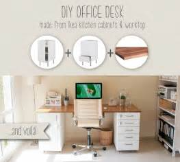 home office desk components diy office desk made from ikea kitchen components ikea