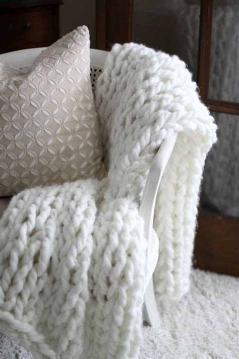 knit home chunky arm knit throw diy of home