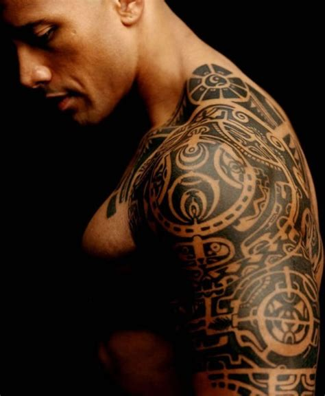 dwayne johnson the rock body tattoo
