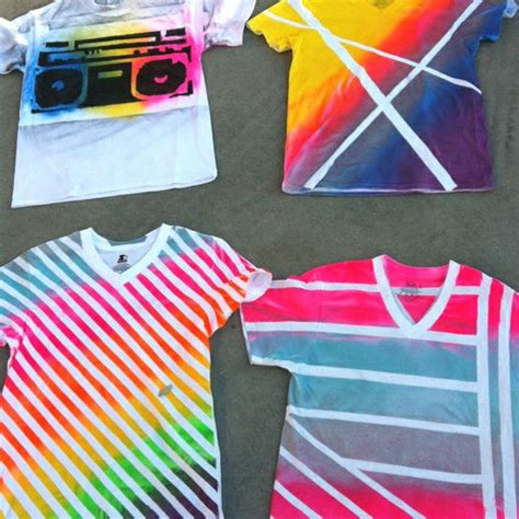 spray paint t shirts easy diy summer projects