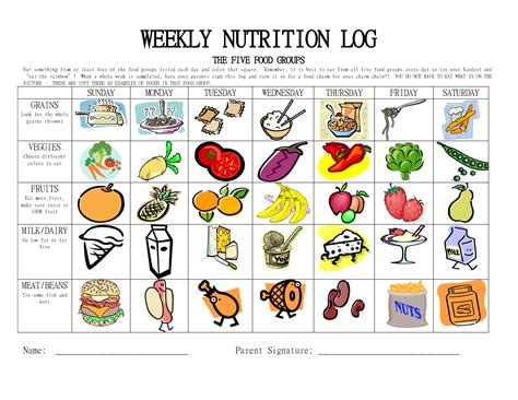 free printable for groups 5 best images of worksheets food groups printable