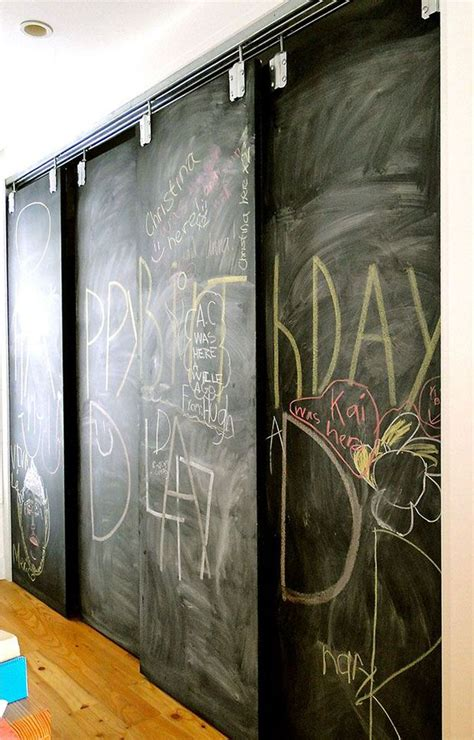 chalkboard paint pantry door chalk it up decorating your small space