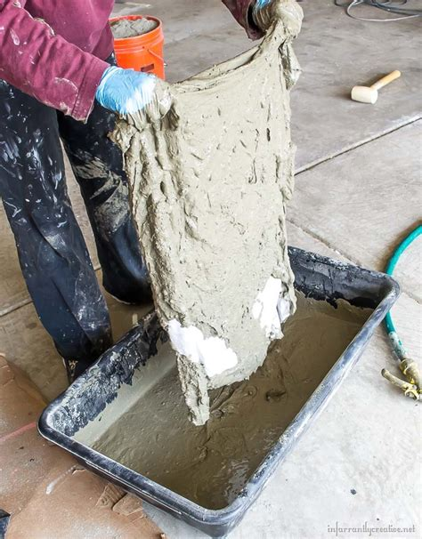 diy cement planters drop cloth and cement planters