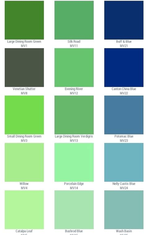 list of green colors colors home interior home design and style