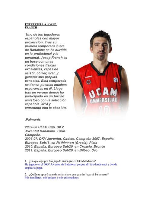 entrevistas cortas a famosos entrevista jugadores baloncesto