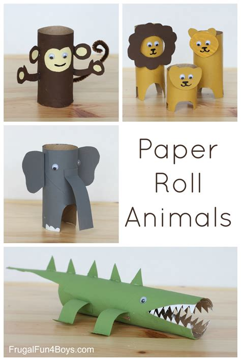 crafts made from paper towel rolls paper roll animals paper towel rolls paper paper and