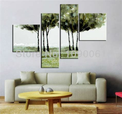 acrylic painting ideas for living room painted acrylic painting trees abstract modern wall