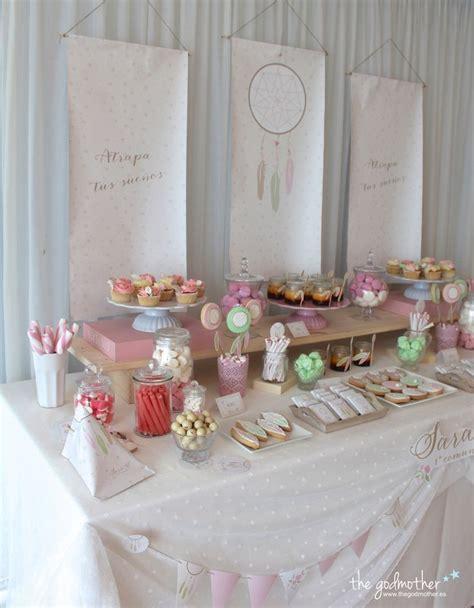 decoracion de mesas para comuniones mesa dulce est 233 tica boho mesa dulce comuni 243 n ni 241 a