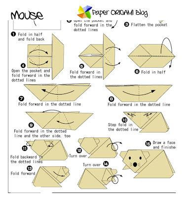 origami mouse diagram paper origami mouse origami paper origami guide