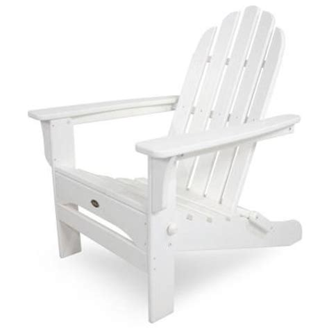 Adirondacks Chairs Home Depot by Trex Outdoor Furniture Cape Cod Classic White Folding