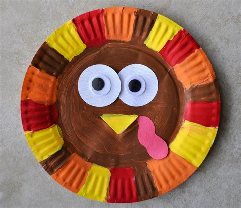 thanksgiving paper plate turkey craft paper plate turkey craft find craft ideas