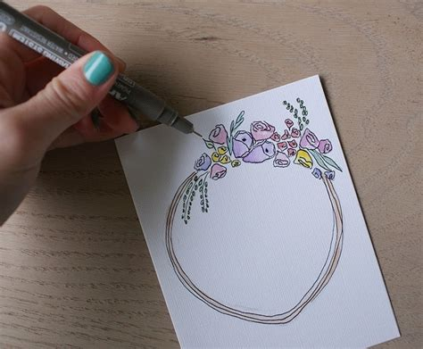 how to make watercolor cards watercolor birthday card with a floral motif 183 how to