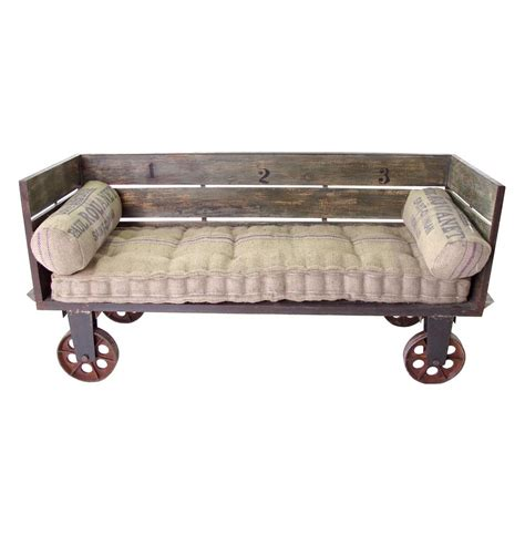 limoges french industrial large sofa cart kathy kuo home