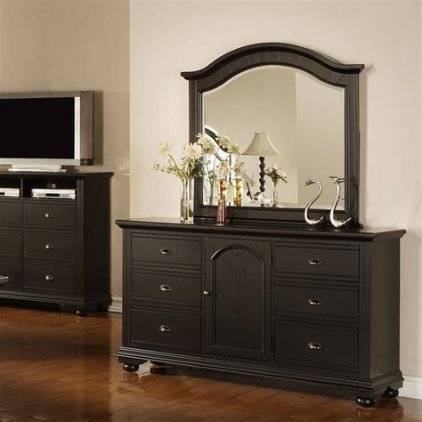 mirrors for bedroom dressers napa black dresser and mirror contemporary by