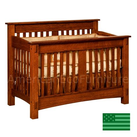 oak baby crib amish mccoy convertible baby crib solid wood made in usa