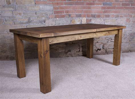 solid wood dining table solid wood dining table by h f notonthehighstreet