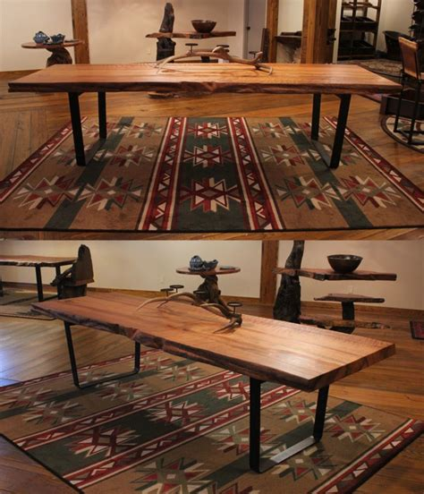 Dining Room Farm Tables rustic table live edge table wood table littlebranch