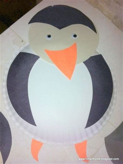 penguin paper plate craft preschool penguin craft made with paper plates and