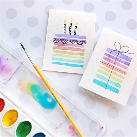 easy to make birthday cards for easy diy birthday cards using minimal supplies