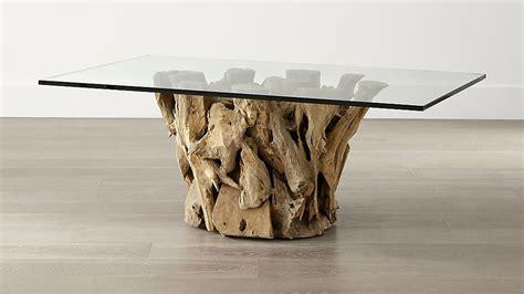 driftwood coffee tables driftwood coffee table crate and barrel