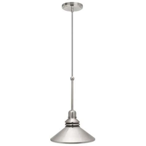 home depot pendant light fixtures hton bay 86 in 1 light brushed nickel pendant track
