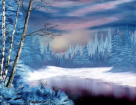 Winter Twilight By Deanne Flouton From Acrylic Paintings