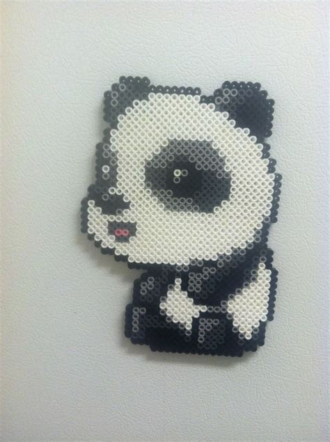beaded panda panda con hama hama mini perler etc hama